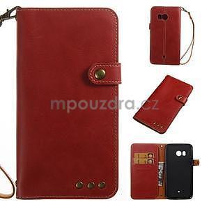 RetroStyle PU kožené puzdro na HTC U11 - červené - 1