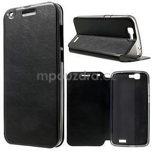 Klopové puzdro na Huawei Ascend G7 - čierne - 1
