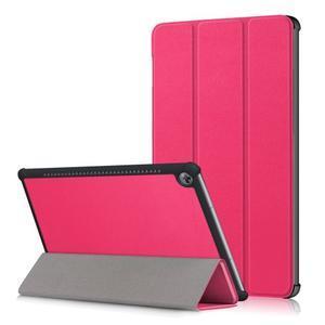 Trifold PU kožené polohovateľné puzdro na Huawei MediaPad M5 10 - rose - 1