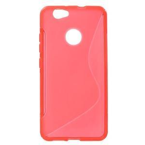 S-line gelový obal na mobil Huawei Nova - červený - 1