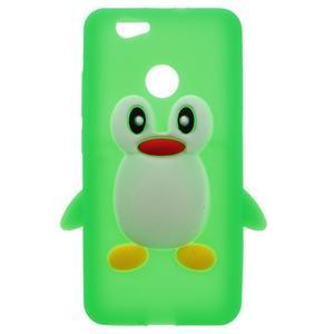 Tučňák silikonový obal na mobil Huawei Nova - zelený - 1