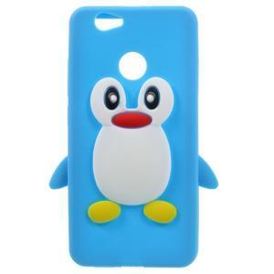 Tučňák silikonový obal na mobil Huawei Nova - modrý - 1