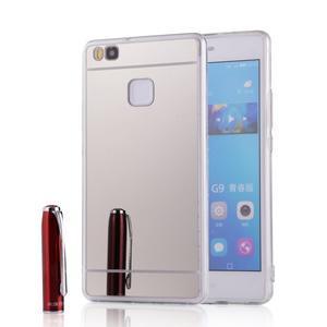 Zrkadlový gélový obal na Huawei P9 Lite - strieborný - 1