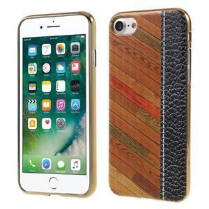 Emotive gélový obal pre iPhone 7 a iPhone 8 - farebné drevo - 1