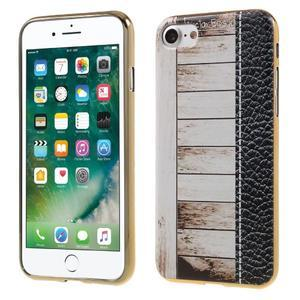 Emotive gélový obal pre iPhone 7 a iPhone 8 - biele drevo - 1