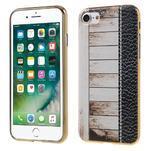 Emotive gélový obal pre iPhone 7 a iPhone 8 - biele drevo - 1/3