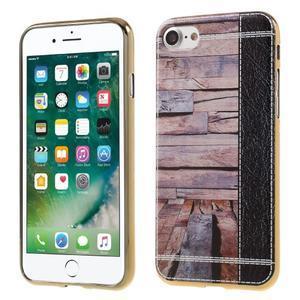 Emotive Gélový obal pre iPhone 7 a iPhone 8 - svetlofialové drevo - 1