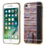 Emotive Gélový obal pre iPhone 7 a iPhone 8 - svetlofialové drevo - 1/3