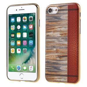 Emotive gélový obal pre iPhone 7 a iPhone 8 - variácie dreva - 1