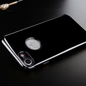 BlackDiamond gélový obal so sivým lemom na mobil iPhone 7 a iPhone 8 - 1