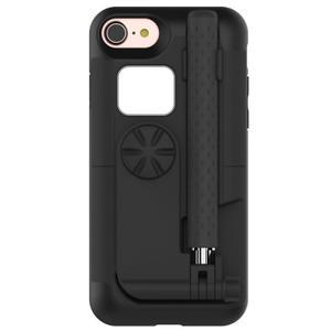 Selfie 2v1 obal pre mobil pro iPhone 7 a iPhone 8 s funkcí bluetooth - čierne - 1