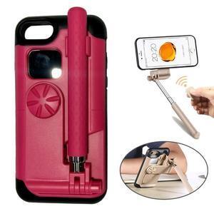 Selfie 2v1 obal pre mobil pro iPhone 7 a iPhone 8 s funkcí bluetooth - rose - 1