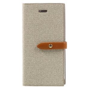 Fashions textilné peňaženkové puzdro pre iPhone 7 a iPhone 8 - khaki - 1