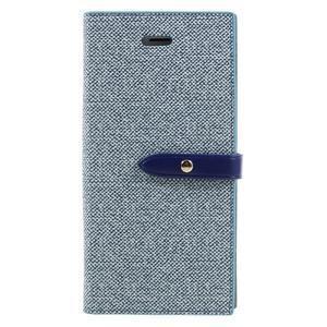 Fashions textilné peňaženkové puzdro pre iPhone 7 a iPhone 8 - modré - 1