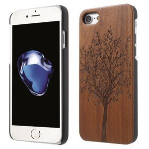 Woody drevený obal s plastovým držaním na iPhone 8 a iPhone 7 - strom - 1