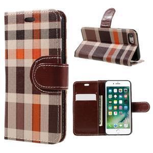 Fashion PU kožené puzdro pre iPhone 8 a iPhone 7 - hnedé - 1