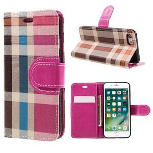 Fashion PU kožené puzdro pre iPhone 8 a iPhone 7 - rose - 1
