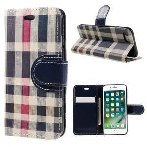 Fashion PU kožené puzdro pre iPhone 8 a iPhone 7 - modré - 1