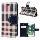 Fashion PU kožené puzdro pre iPhone 8 a iPhone 7 - modré - 1/3