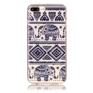 Imope gélový obal pre mobil iPhone 8 Plus a iPhone 7 Plus - sloni - 1