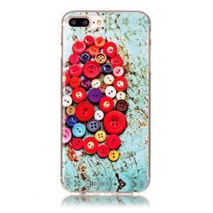 Imope gélový obal pre mobil iPhone 8 Plus a iPhone 7 Plus - knoflíky - 1