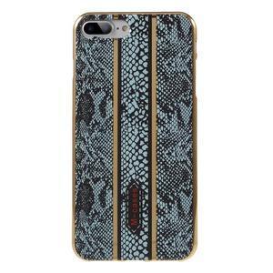 FashionStyle gélový obal s PU koženými chrbtom na iPhone 8 Plus a iPhone 7 Plus - hadie kože - 1