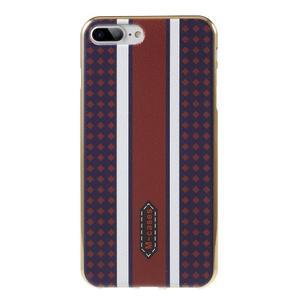 FashionStyle gélový obal s PU koženými chrbtom na iPhone 8 Plus a iPhone 7 Plus - variace - 1