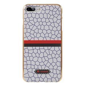 FashionStyle gélový obal s PU koženými chrbtom na iPhone 8 Plus a iPhone 7 Plus - mozaika - 1