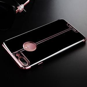BlackDiamond gélový obal pre iPhone 8 Plus a iPhone 7 Plus - zlatoružový - 1
