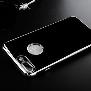 BlackDiamond gélový obal so strieborným lemom na mobil iPhone 7 Plus a iPhone 8 Plus - 1