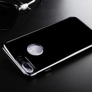BlackDiamond gélový obal so sivým lemom na mobil iPhone 7 Plus a iPhone 8 Plus - 1