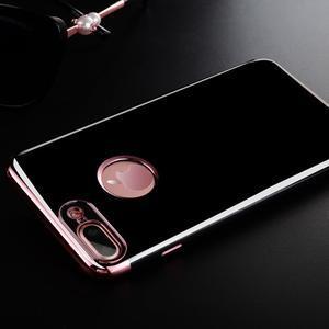 BlackDiamond gélový obal so ružovozlatým lemom na mobil iPhone 7 Plus a iPhone 8 Plus - 1