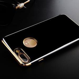 BlackDiamond gélový obal so zlatým lemom na mobil iPhone 7 Plus a iPhone 8 Plus - 1