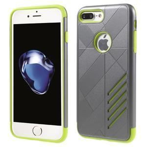 Armory odolný obal pre mobil iPhone 8 Plus a iPhone 7 Plus - sivý/zelený - 1