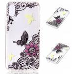Bossi gélový obal na mobil iPhone X - motýľ a kvetina - 1/2