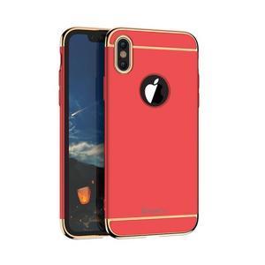 Odolný obal 3v1 na mobil iPhone X - červený - 1