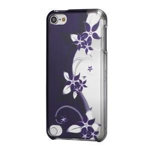 Safety plastové puzdro 2v1 na iPod Touch 5 - fialové kvety - 1