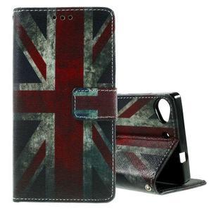 Peňaženkové PU kožené puzdro Lenovo Vibe X2 - UK vlajka - 1