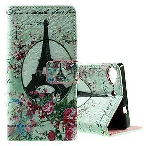Peňaženkové PU kožené puzdro Lenovo Vibe X2 - Eiffelova veža - 1