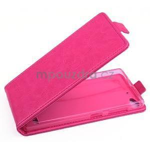 Flipové puzdro pre mobil Lenovo Vibe X2 - rose - 1