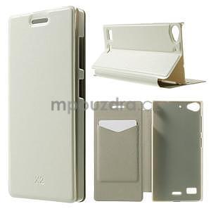 Peňaženkové puzdro Lenovo Vibe X2 - biele - 1
