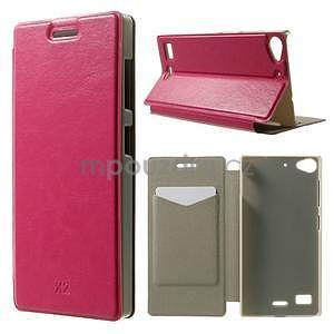 Peňaženkové puzdro Lenovo Vibe X2 - rose - 1