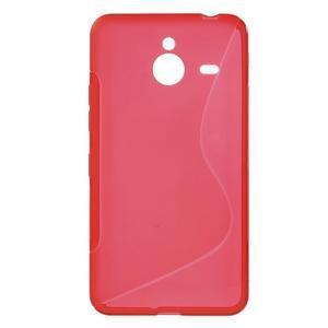 S-line gélový obal na Microsoft Lumia 640 XL - červený - 1