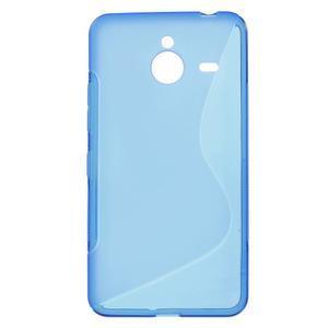 S-line gélový obal na Microsoft Lumia 640 XL - modrý - 1
