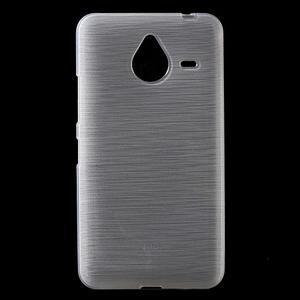 Gélový kryt s brúseným vzorom Microsoft Lumia 640 XL - biely - 1