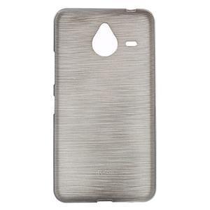 Gélový kryt s brúseným vzorom Microsoft Lumia 640 XL -  šedý - 1