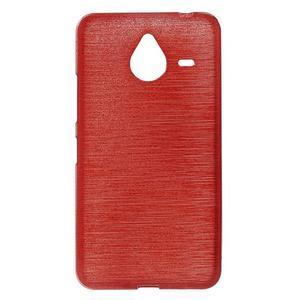 Gélový kryt s brúseným vzorom Microsoft Lumia 640 XL -  červený - 1