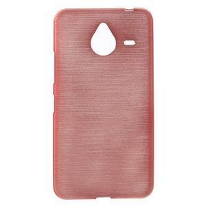 Gélový kryt s brúseným vzorom Microsoft Lumia 640 XL - ružový - 1