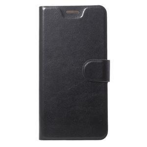 Horse PU kožené puzdro na mobil Motorola Moto G6 Play - čierne - 1