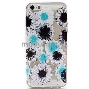Fun gélový obal pre iPhone 5s a iPhone 5 - kvety - 1